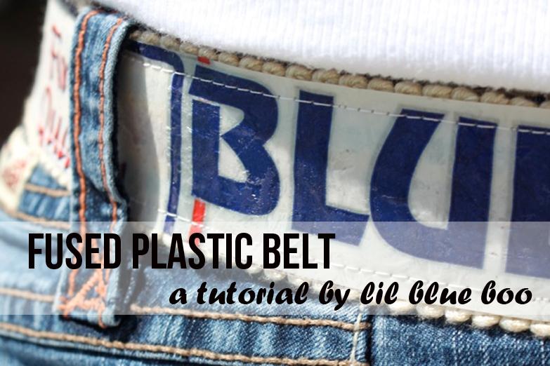 How to make a fused plastic belt - DIY Tutorial via lilblueboo.com