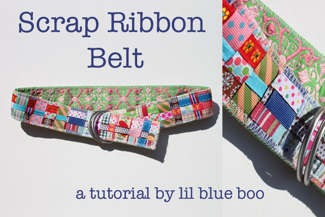 Scrap Ribbon Belt (A Tutorial) via lilblueboo.com