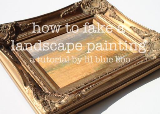 How to Fake a Landscape Painting (A Tutorial) via lillbueboo.com