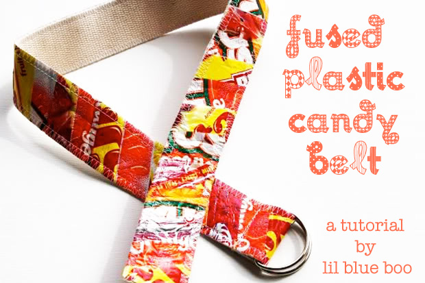 Fused Plastic Patchwork Belt (A Tutorial) via lilblueboo.com