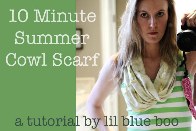 How to make a 10 minute Cowl Scarf via lilblueboo.com