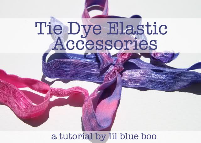 Tie Dye Elastic Accessories Tutorial via lilblueboo.com