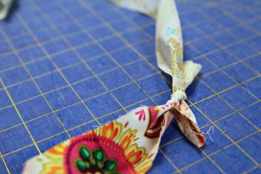 making fabric garland - diy fabric garland wedding