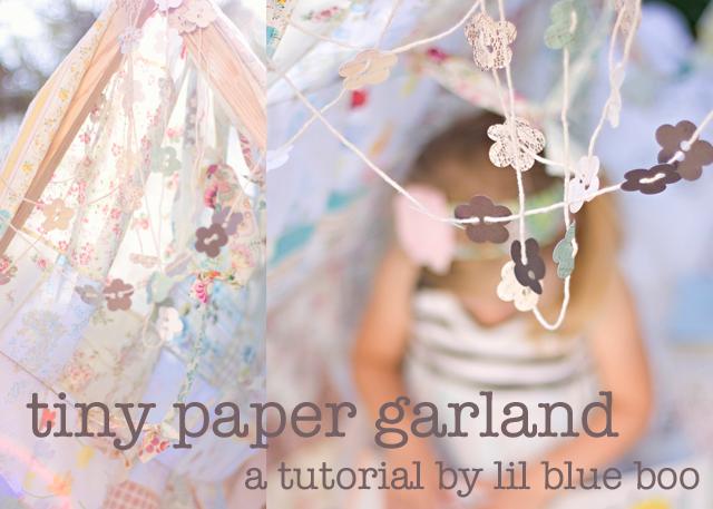 how to make tiny paper garland - diy fabric garland backdrop