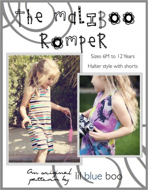The MaliBoo Romper DIY Sewing ePattern via lilblueboo.com