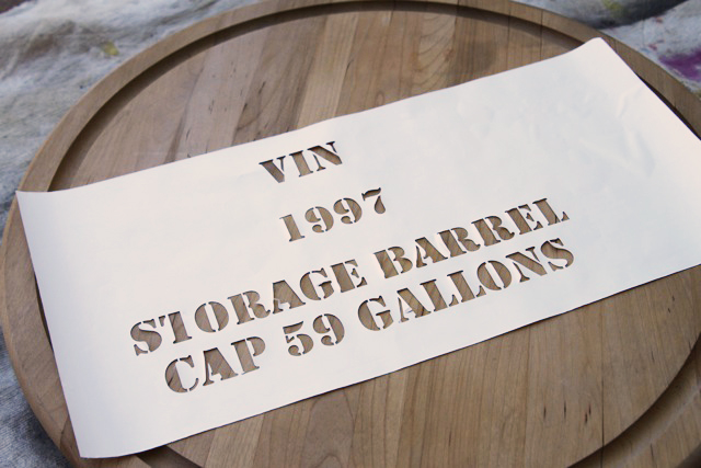 Make a lazy susan look like a vintage wine barrel, DIY Tutorial via lilblueboo.com