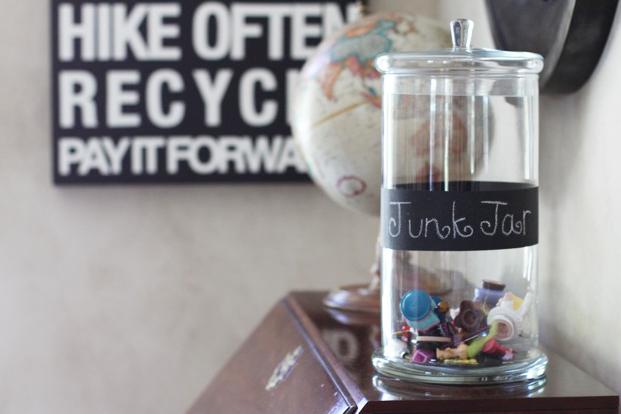 Make a Junk Jar to hold random items via lilblueboo.com
