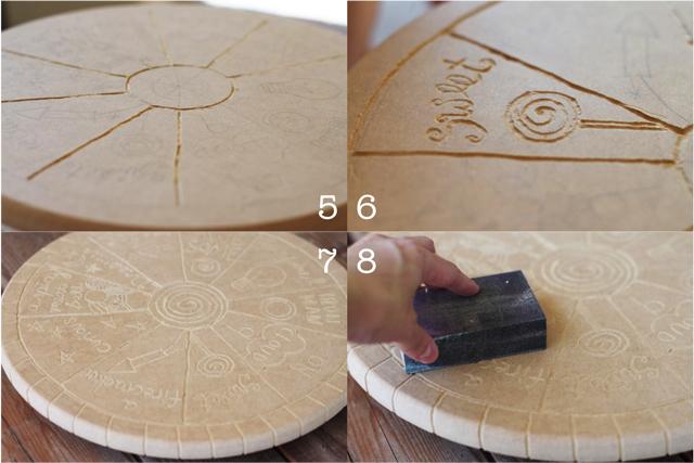 Spin-spiration DIY Folk Art using a Lazy Susan via lilblueboo.com
