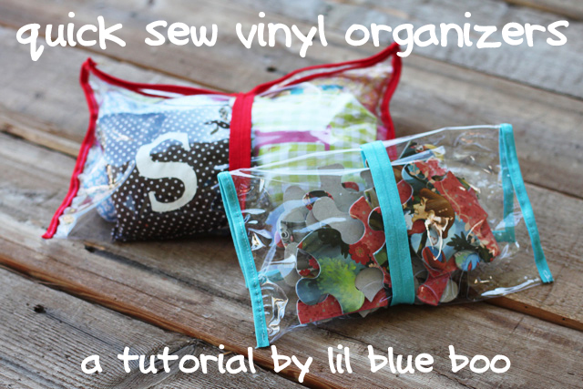 Quick Sew Clear Vinyl Organizers A Tutorial Ashley
