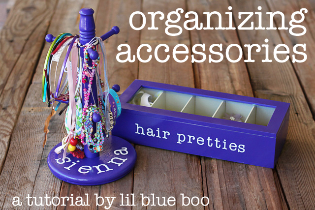 Making Accessory Organizers via lilblueboo.com