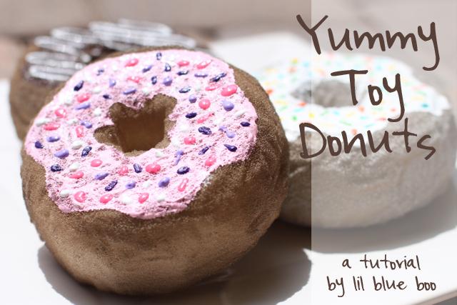 How to make toy donuts DIY Tutorial via lilblueboo.com