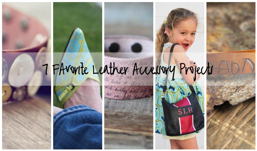 Leather Accessory DIY Tutorials via lilblueboo.com