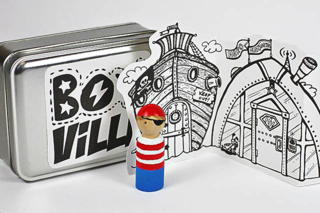 Paint Pirate or Superhero peg doll  via lilblueboo.com