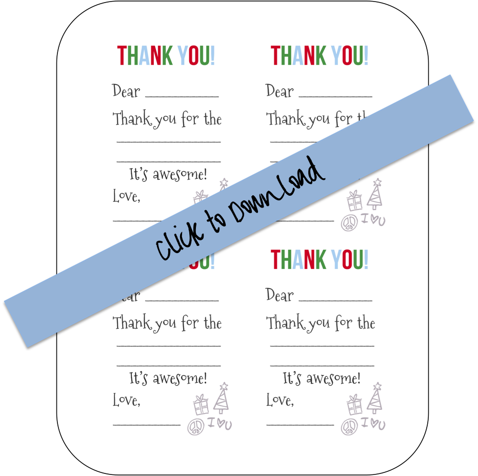 Printable Fill-in-the-Blank Thank You Notes