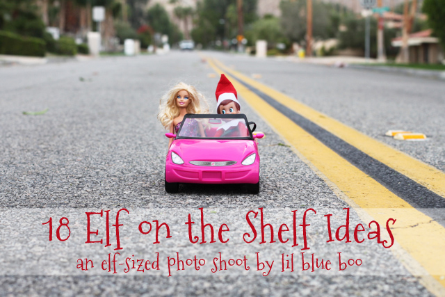 18 Elf on the Shelf Ideas (An Elf-Sized Photo Shoot) via lilblueboo.com