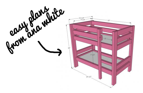 "Doll bed plans from ana white - American Girl 18"" Dolls DIY"