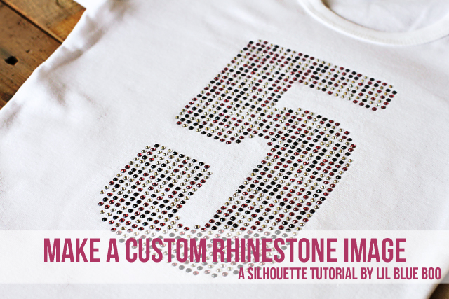 How to make a Custom Rhinestone image with Free Silhouette Download DIY Tutorial via lilblueboo.com