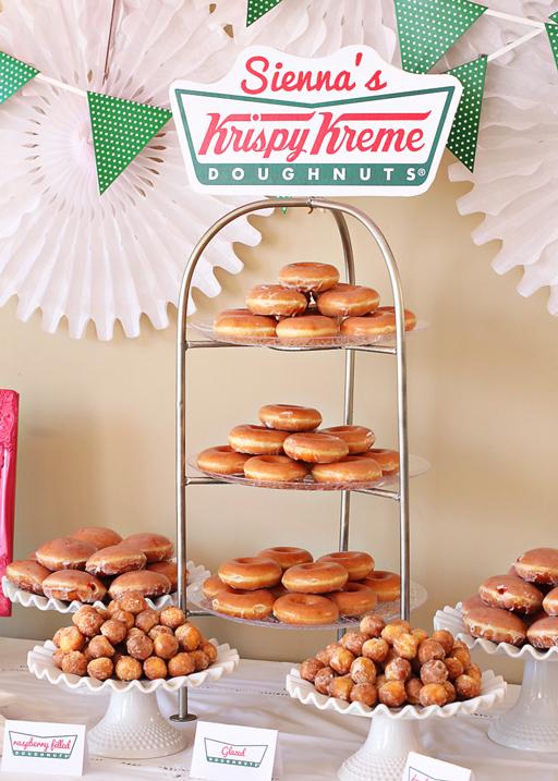 Krispy Kreme Doughnut Party via lilblueboo.com