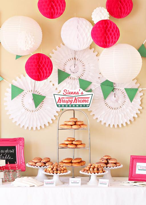 Donut Party Theme:  Krispy Kreme Doughnut Party via lilblueboo.com