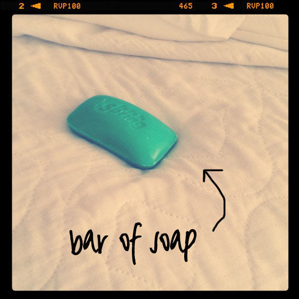 a bar of soap under the bottom sheet helps restless legs! via liblueboo.com