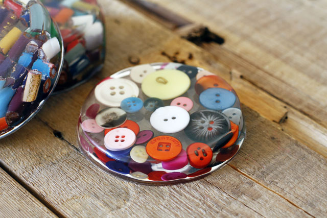 Cast Resin Paperweights & Coasters finished 1 DIY Tutorial via lilblueboo.com