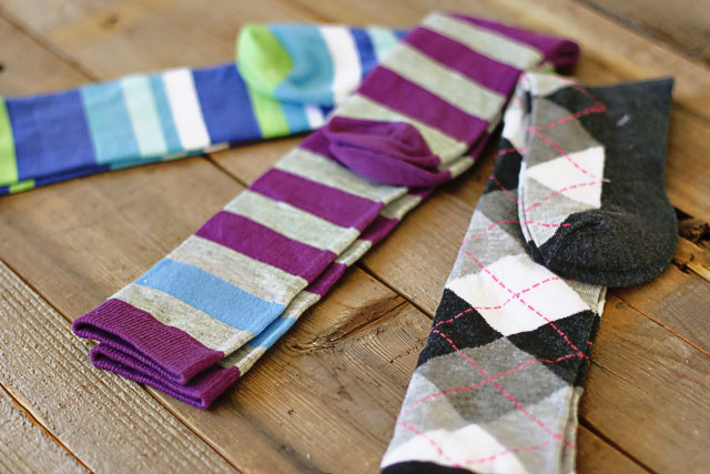 Sock Bunnies start with socks.  DIY Tutorial via lilblueboo.com