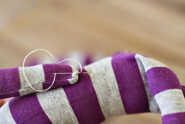 How to make a sock bunny - Step 10. DIY Tutorial via lilblueboo.com