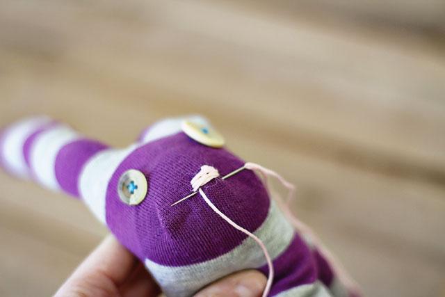 How to make a sock bunny - Step 13. DIY Tutorial via lilblueboo.com