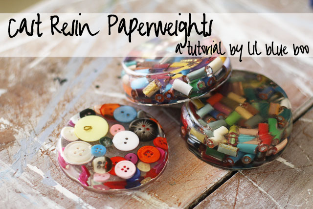 Cast Resin Paperweights a tutitorial vial lilblueboo.com