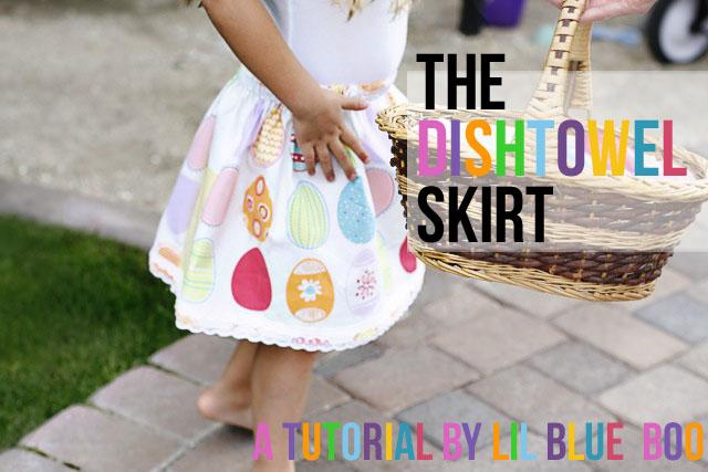 The Dishtowel Skirt (A Tutorial) via lilblueboo.com