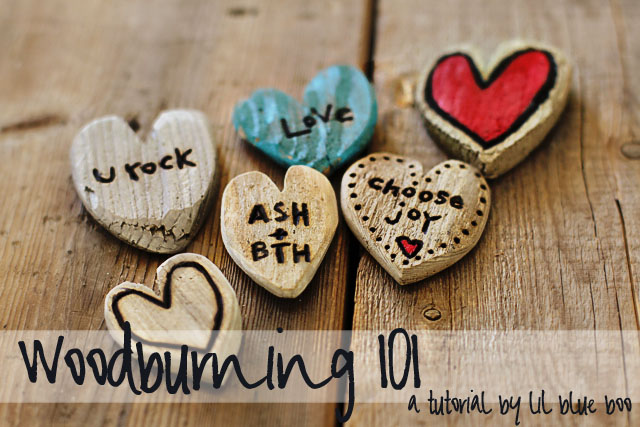 Woodburning 101 - DIY Tutorial via lilblueboo.com
