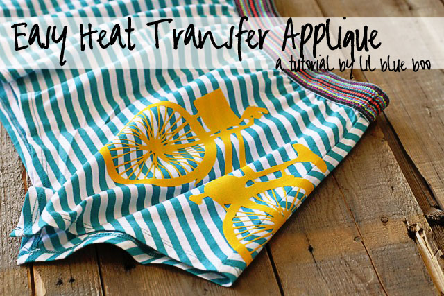 Easy Heat Transfer Applique (A Tutorial) via liblueboo.com