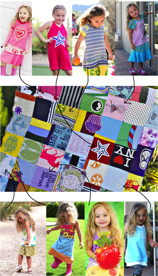 How to make a memory quilt from baby blankets, clothes and t-shirts. DIY tutorial 1 via lilblueboo.comm