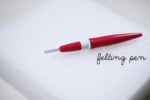 Felted Pinwheel Accessories Tutorial Felting Pen via lilblueboo.com