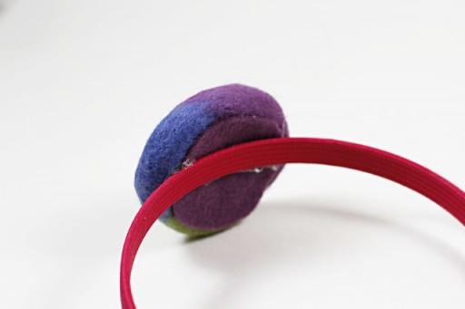 Felted Pinwheel Accessories Tutorial process 12 via lilblueboo.com
