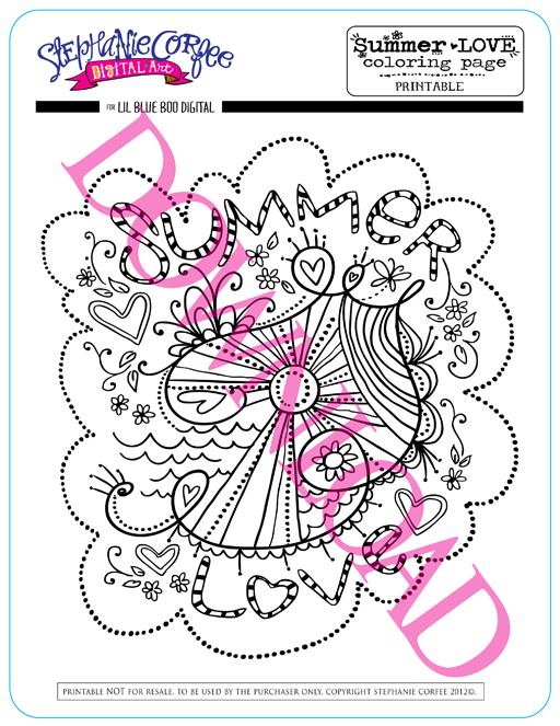 Summer Love Art Free Printable 6 for DIY via lilblueboo.com