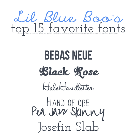 Lil Blue Boo's Top 15 Favorite Free Fonts via lilblueboo.com