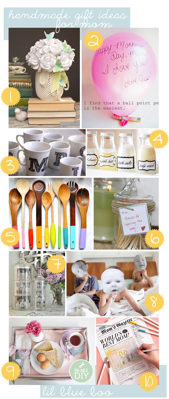 Handmade mothers day gift ideas #mom #diy #tutorial via lilblueboo.com