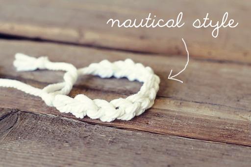 Easy Finger Crochet Bracelet DIY nautical style via lilblueboo.com