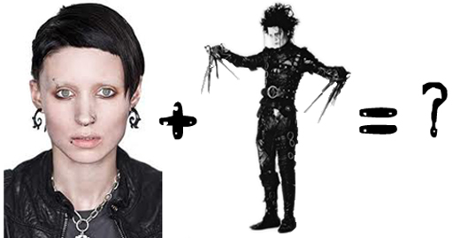 Lisbeth Salander and Edward Scissorhands via lilblueboo.com