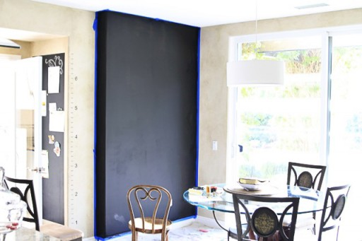 Let chalkboard wall cure for 3 days via lilblueboo.com