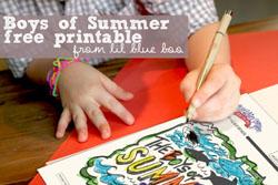 boys of summer free printable art via lilblueboo