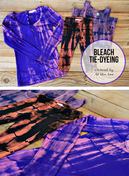 Tie Dye Clothing with Bleach via lilblueboo.com