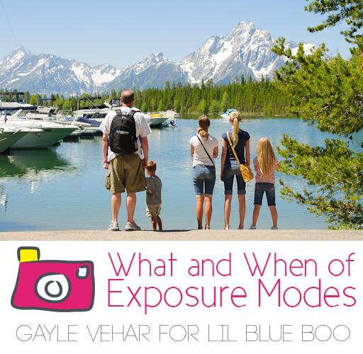 All About Photography Exposure Modes by Gayle Vehar for lilblueboo.com