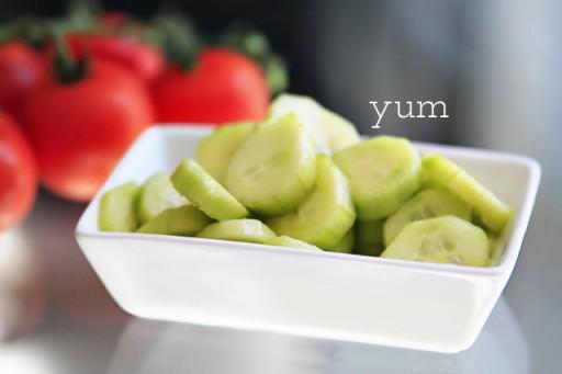 Chilled Cucumber Salad via lilblueboo.com
