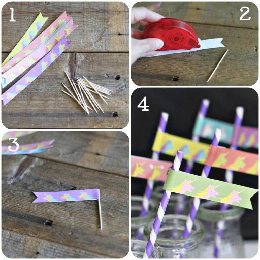 Party Printables: How to Make Party Flags via lilblueboo.com