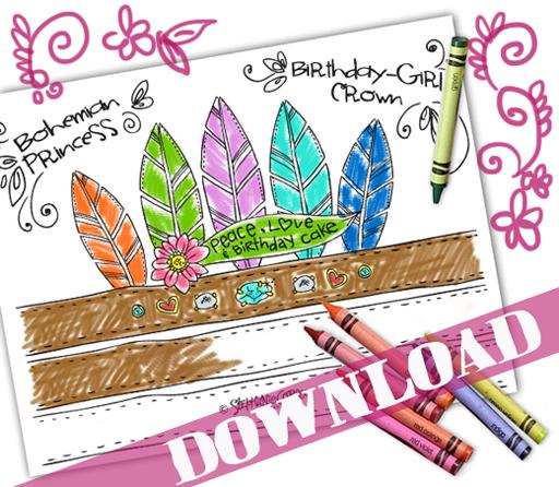 Bohemian Princess Free Printable Crown by Stephanie Corfee via lilblueboo.com