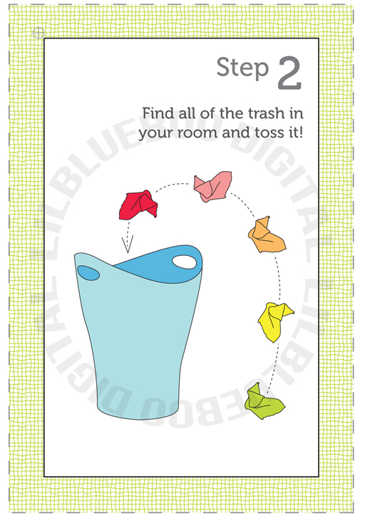 clean your room - a how-to guide printable via lilblueboo.com