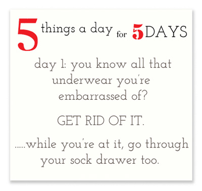 5 Things a Day for 5 Days via lilblueboo.com