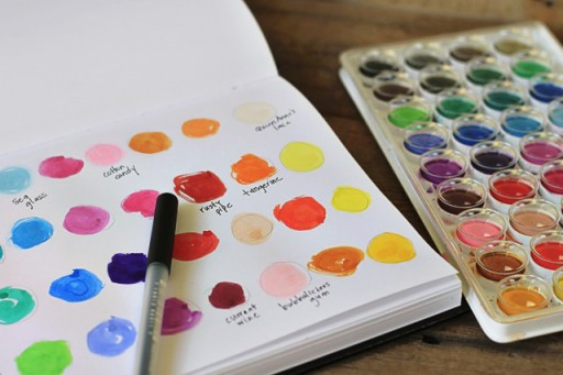 Making Color Palettes (the lil journal project) via lilblueboo.com
